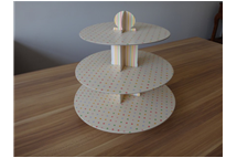 coloured paperboard cupcake stand